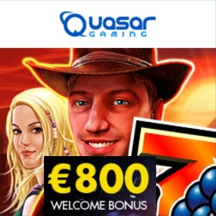 QUASAR GAMING - 150% up to €1300 free casino bonus