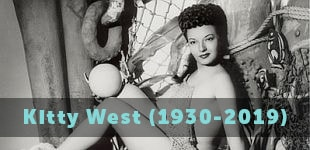 Kitty West/Evangeline the Oyster Girl (1930-2019)
