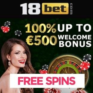 18Bet Casino free spins