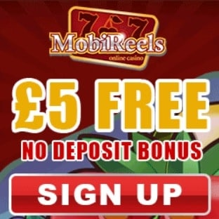 Mobi Reels Casino £5 FREE and 50 free spins and £500 bonus