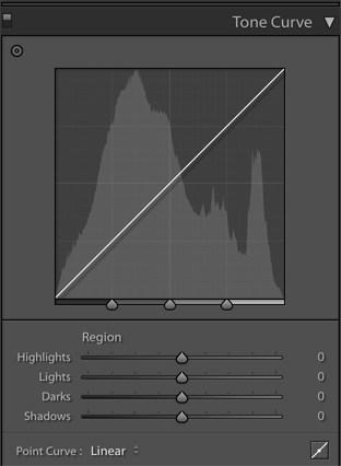 Edit with Adobe Lightroom Classic CC Region Curve