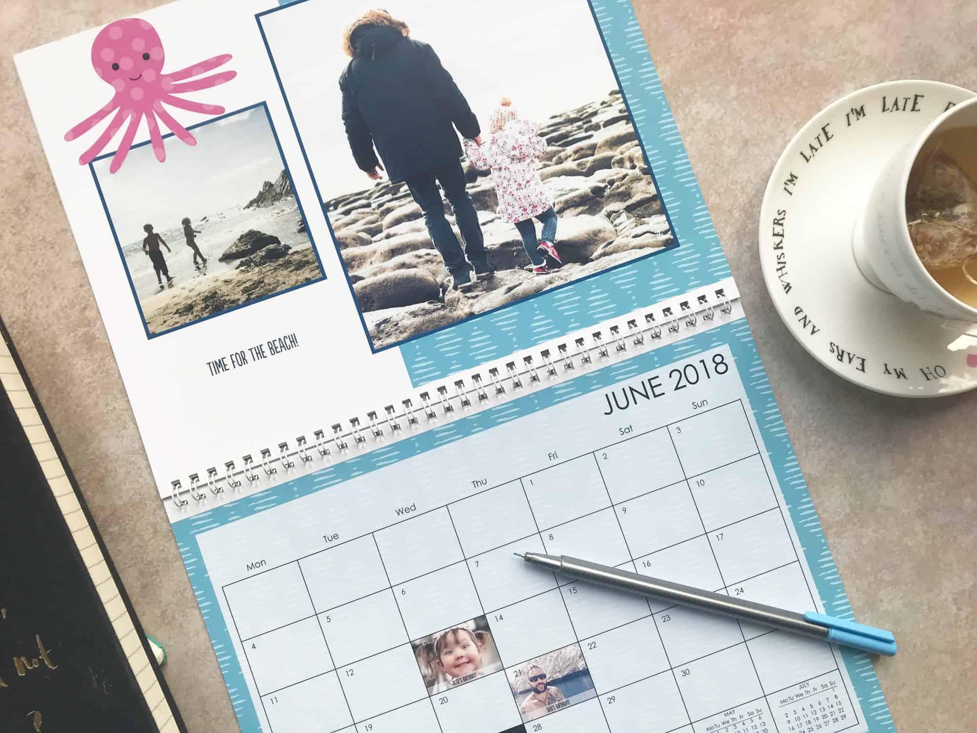 Snapfish L Wall Calendar customisable dates