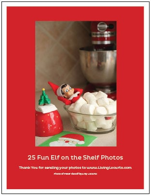 25 of the BEST Elf On The Shelf Ideas! Find fun posing ideas for moving your elf, cute free printables, arrival ideas and many more DIY ideas for your kid's Christmas elf. Book with over a month of elf ideas!