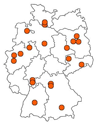 Standorte von GS Consult