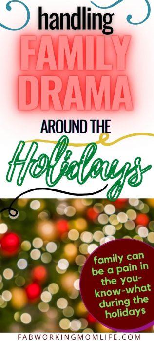 handle family drama during holidays