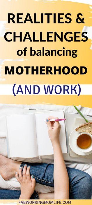 challenges balancing motherhood and work