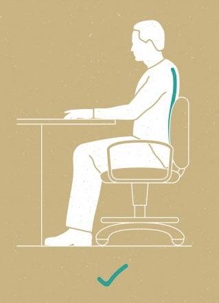 Korrekte Sitzhaltung