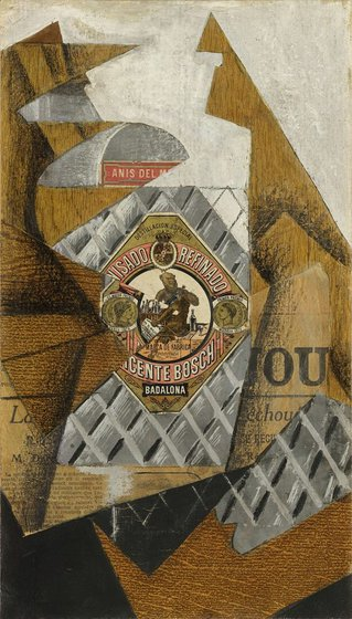 The Anisette Bottle by Juan Gris