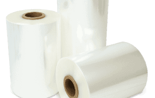Rolls of PVC shrink film at Traco Packaging