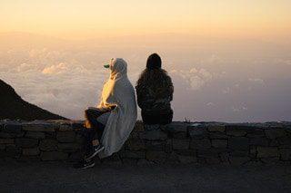 Haleakalā National Park at sunrise.