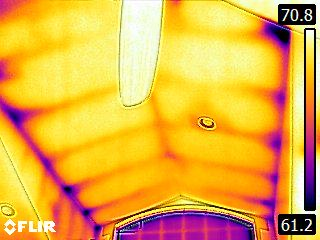 attic insulation thermal 3 - Thermal Imaging