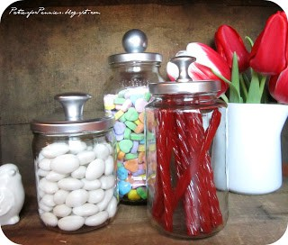 DIY Apothecary Jars by Heidi at Parties for Pennies