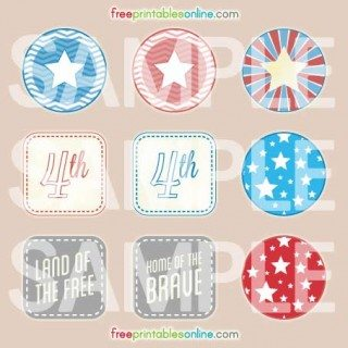 July 4th Cupcake Toppers