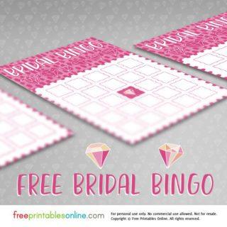 free bridal shower bingo