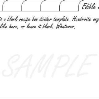 blank recipe card dividers