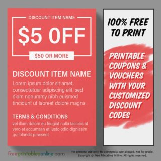 Free Printable Money Off Coupon