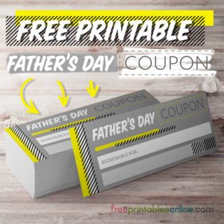 Printable Father's Day Coupons