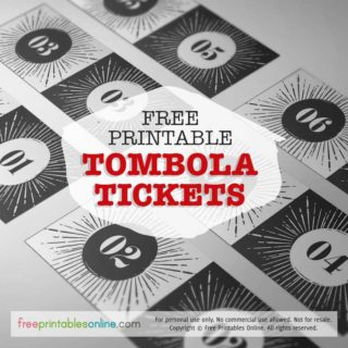 printable tombola tickets