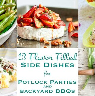 Say hello to grilling season with these 13 flavor filled side dishes! From artichokes to strawberries, this list will help you add flavor, color, and variety to your next potluck party or backyard BBQ.