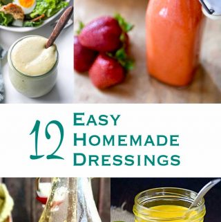 The only thing better than a salad fresh from the garden, is one topped with an amazing homemade salad dressing. Here are 12 varieties to try yourself!