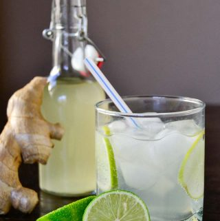Cool, refreshing lime and warm, spicy ginger come together in this Ginger Lime Fizz. Enjoy yours as cocktail or a mocktail for a tasty holiday pick me up.