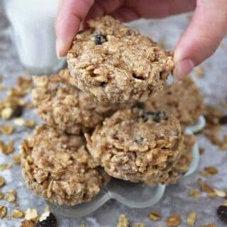 no bake, healthyish, easy cereal cookies for snacking