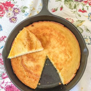 Southern Buttermilk Cornbread. An iconic food of southern US cuisine.