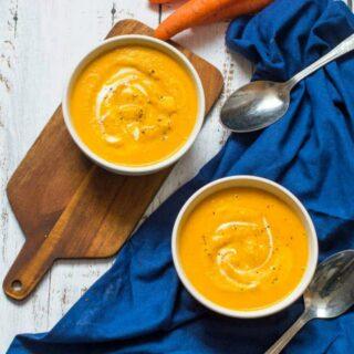 two soup bowls