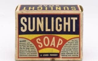 History of packaging: picture of old cardboard packaging