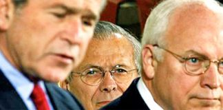 Image of Bush, Cheney and Rumsfeld