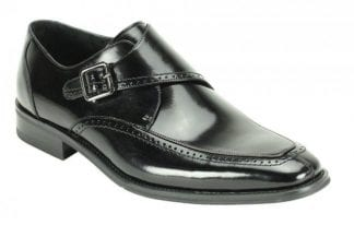 Frazer Men's Black Stripe Cap-toe Dress Shoe