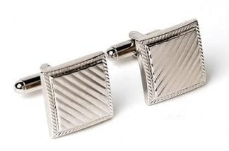 Husband & Wife Wedding couple Cufflinks Silver Finish