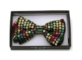 Mardi Gras Mens Pre-tied Bowtie with accessories option