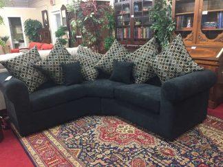 black sectional sofa
