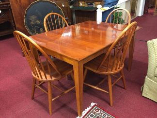 cherry table and four chairs