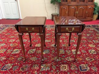 harden cherry drop side end tables