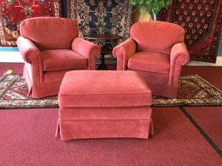 Henredon Chair and Ottoman Set