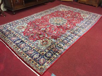 Mashad Persian Hand Knotted Room Size Rug
