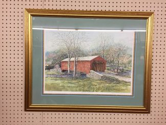 """Barry Richardson """"Spring Crossing"""" Print - Signed and Framed"""