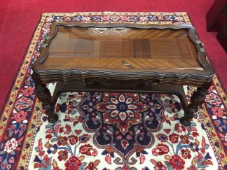 Jacobean Coffee Table with Glass Tray