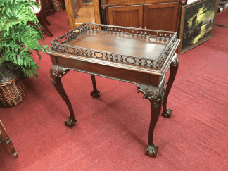 Carved Claw Foot Accent Table