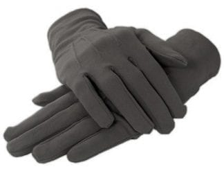 MENS Formal Gloves LIGHT GREY Nylon Stretch Fabric Gloves