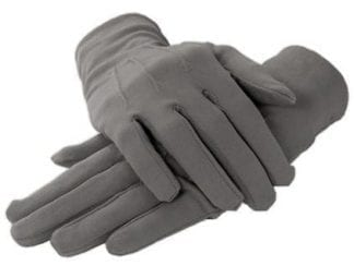 MENS Formal Gloves WHITE COTTON Fabric Gloves