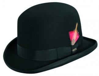 Bowler Hat Derby Hat Wool Felt Charcoal