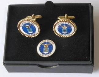 USAF Ari Force Cuff Links Lapel Pin