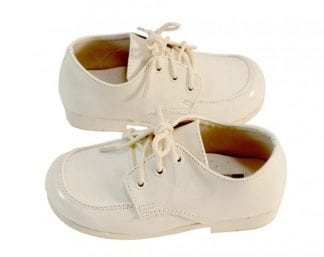 Tuxedo Shoes BOYS White Slim Square Toe Lace Up Shoes