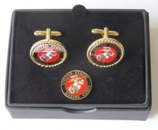 US Marines Corp Cuff Links Lapel Pin