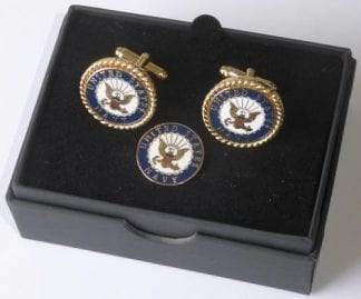 US Navy Cuff Links Lapel Pin