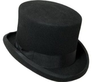 Tall Top Hat All Wool Grey Top Hat