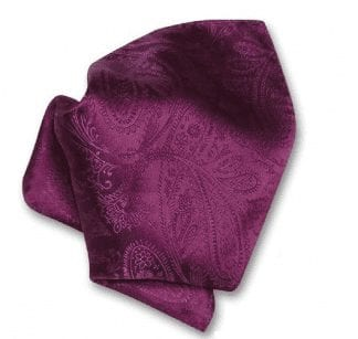 Paisley Pink Pattern Satin Pocket Square